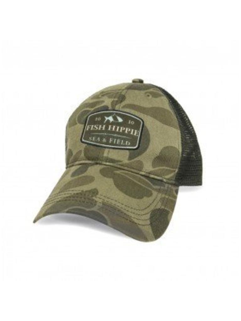 Fish Hippie Camo Trucker Hat - Papa s General Store b19e4e6e266