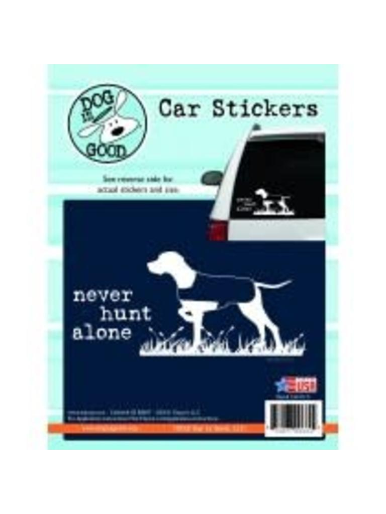 Surprising Never Hunt Alone Sticker Beutiful Home Inspiration Aditmahrainfo