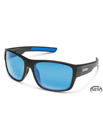 c0c35b24cb2 Suncloud Optics Range Sunglass - Black Polarized Polycarbonate Blue Mirror