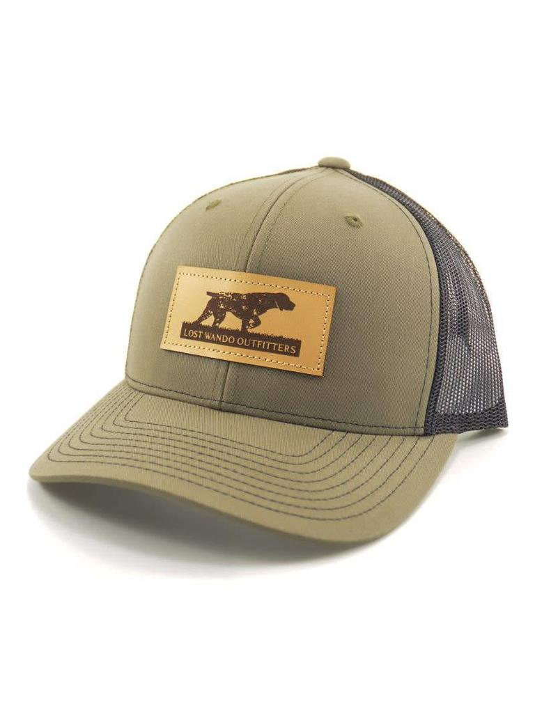 71024db8d Lost Wando Outfitters Pointer Leather Patch Loden - Black Hat