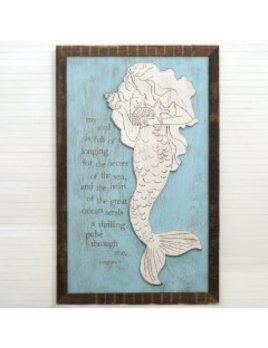 Seashell Mermaid Framed