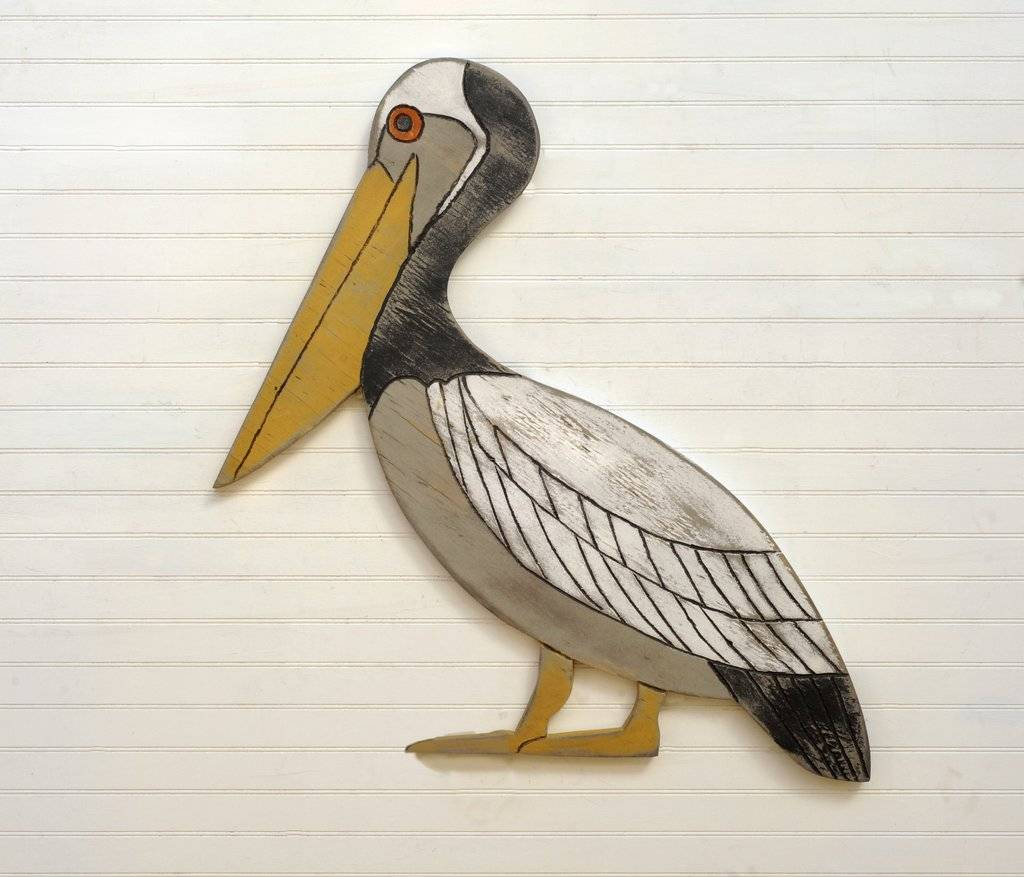3' Pelican Wall Art