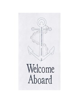 C & F Enterprises Welcome Aboard Kitchen Towel