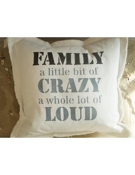 Family a little bit Crazy  20x0 Pillow