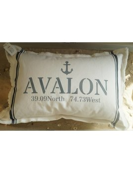 Avalon Anchor  Coordinates  18x25 Pilllow Hale Navy