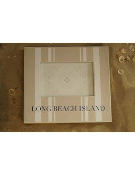 Long Beach Island Pewter Frame 3x3