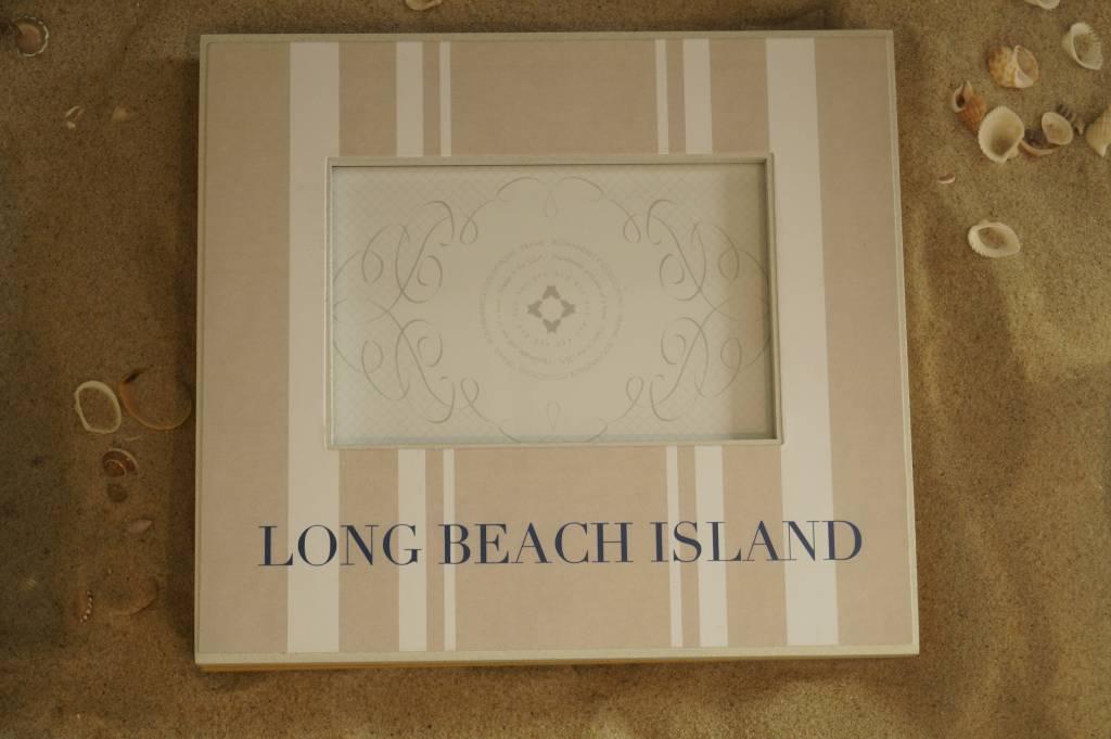 3x3 Pewter Frame Long Beach Island