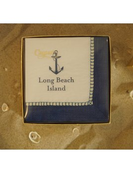 Long Beach Island Navy Boxed Cocktail Napkin