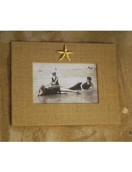 Natural Frame Gold Starfish 4x6 Horizontal