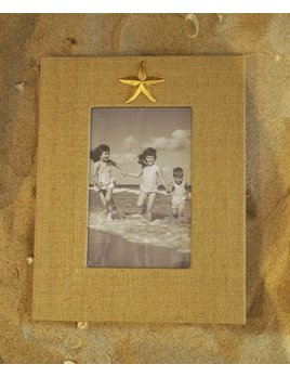 Natural Frame Gold Starfish 4x6 Vertical