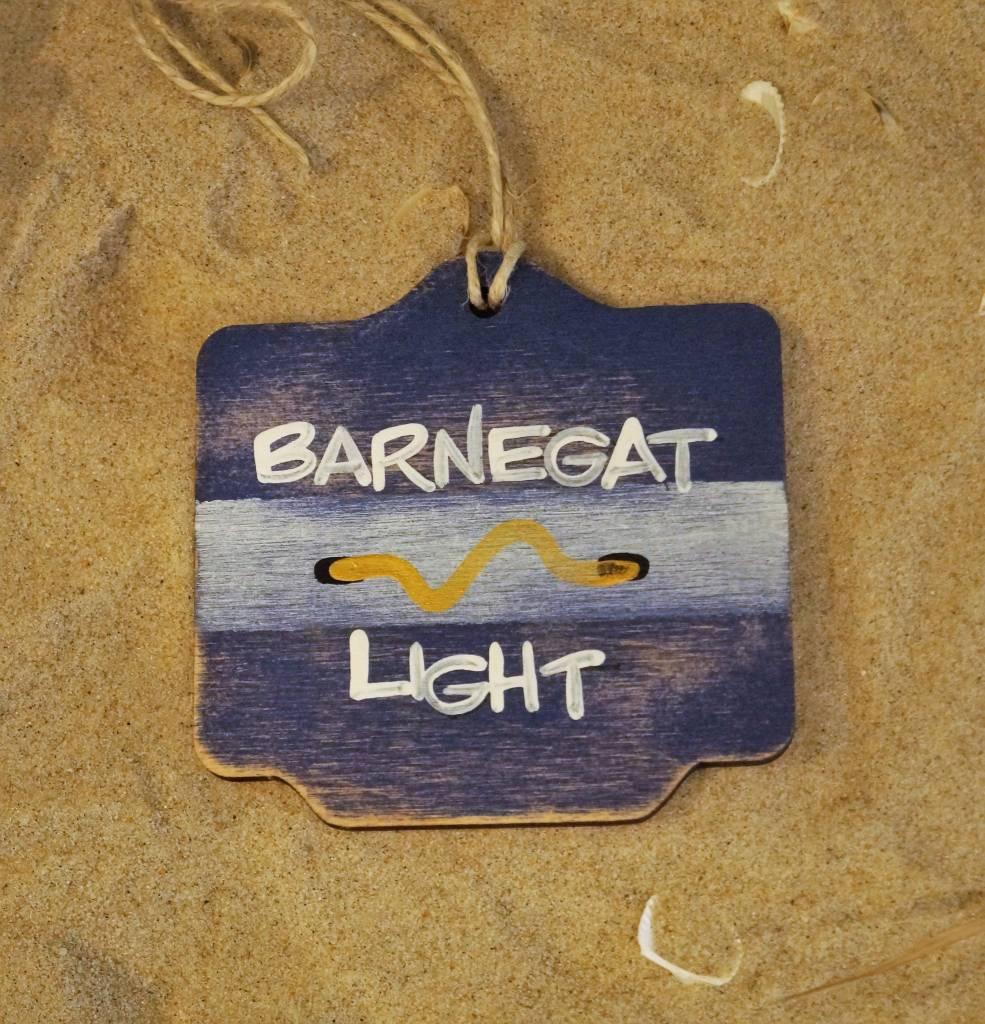 Beach Badge Ornament Navy Barnegat Light