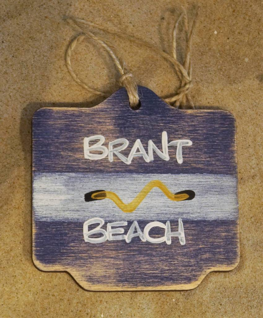 Beach Badge Ornament Navy Brant Beach