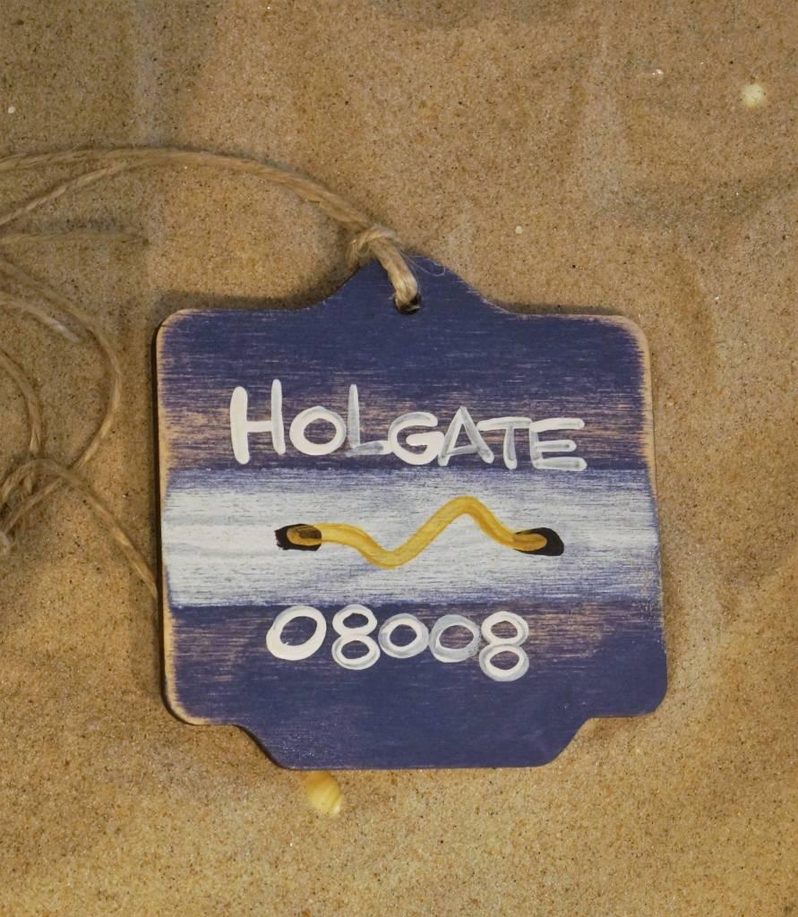 Beach Badge Ornament Navy Holgate
