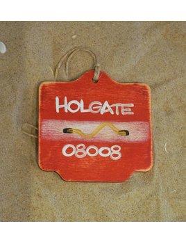 Beach Badge Ornament Red Holgate