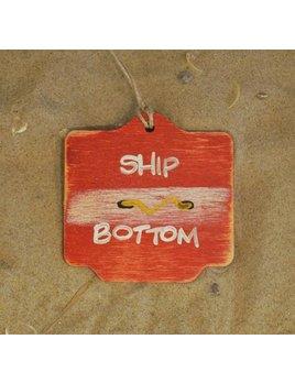 Beach Badge Ornament Red Ship Bottom