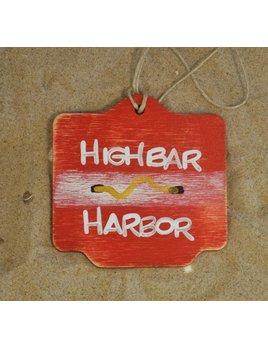 Beach Badge Ornament Red High Bar Harbor