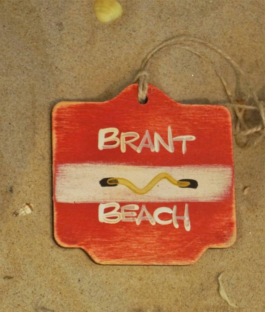 Beach Badge Ornament Red Brant Beach
