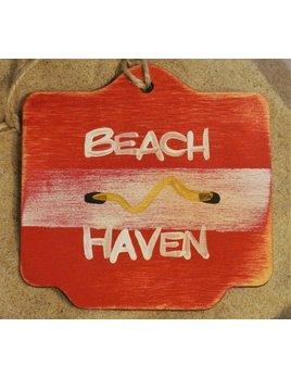 Beach Badge Ornament Red Beach Haven
