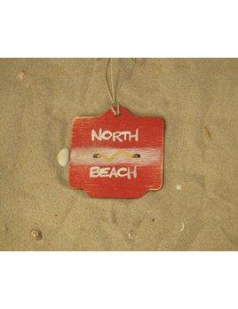 Beach Badge Ornament Red North Beach