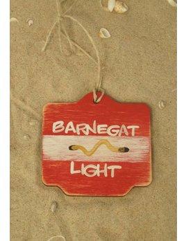 Beach Badge Ornament Red Barnegat Light