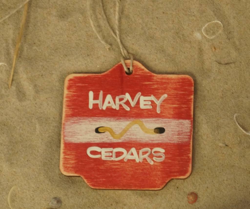 Beach Badge Ornament Red Harvey Cedars