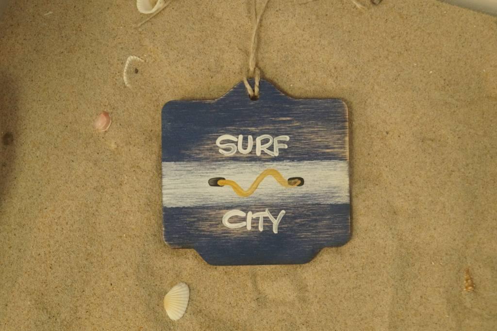 Beach Badge Ornament Navy Surf City