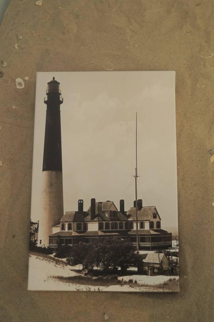 Canvas 9x14  The Keepers Inn Barnegat Lighthouse