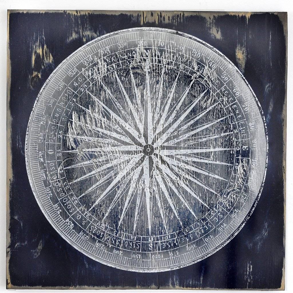 "Compass Print 40"""