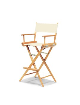 Bar Height Director Chair Varnish with Nautral