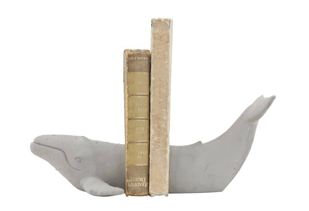 Humpback Whale Grey Bookends