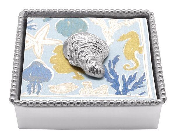 Oyster Beaded Napkin Box