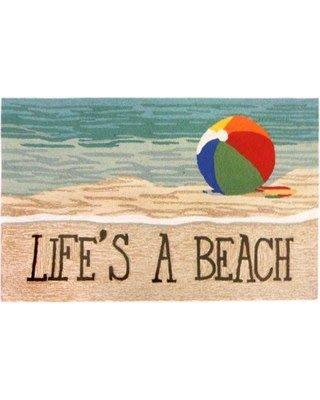 Life's A Beach Sand Rug 24x36