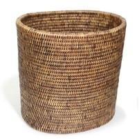 Oval Waste Basket Brown