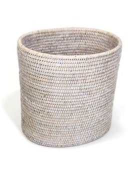 Oval Waste Basket White