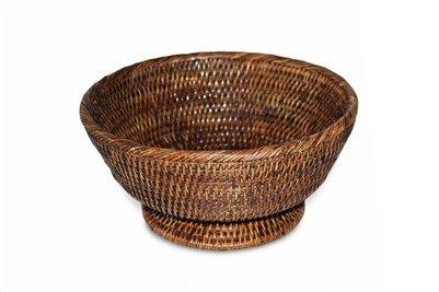 Brown Round Pedestal Basket
