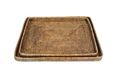 Brown Large Rectangular Tray 18x13.5