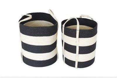 Tall Basket Grey Bleach White Large 15x17