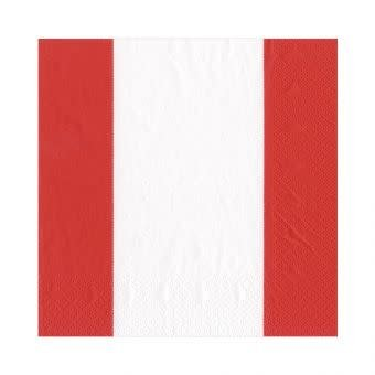 Bandol Stripe Red Lunch Napkin