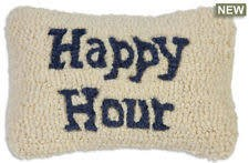 Happy Hour On Blue 8x12 Pillow