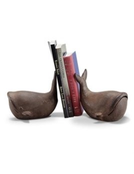 Whale Bookends Cast Iron
