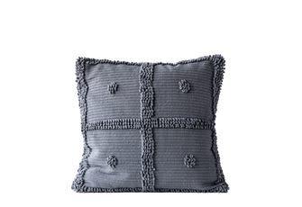"""20"""" Square Cotton Chenille Pillow Grey"""