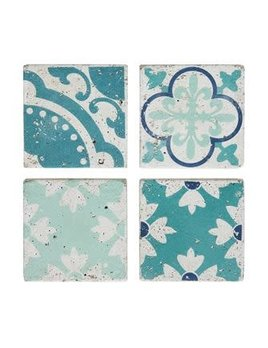 """4"""" Square Cement Tile Coasters (Set of 4)"""