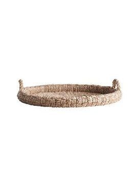 Round Decorative Braided Tray