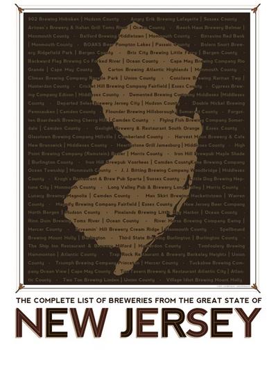 NJ Breweries 24x36