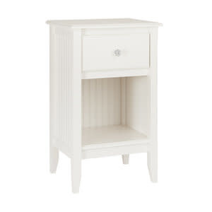 Maine Woodworks 1 Drawer Nightstand Sugar