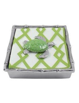 Green Sea Turtle Bamboo Napkin Box