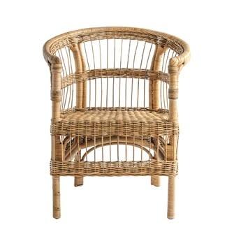 Hand Woven Rattan Arm Chair 28x25x32