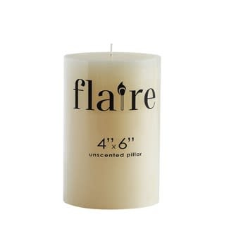 4x6 Unscented Pillar Candle