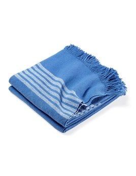 Pembroke Cotton Throw Baja Blue