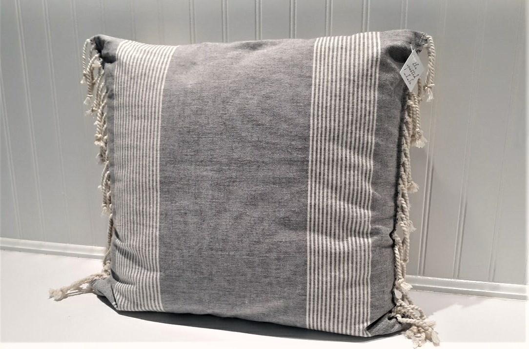 "18"" Square Cotton Woven Pillow"